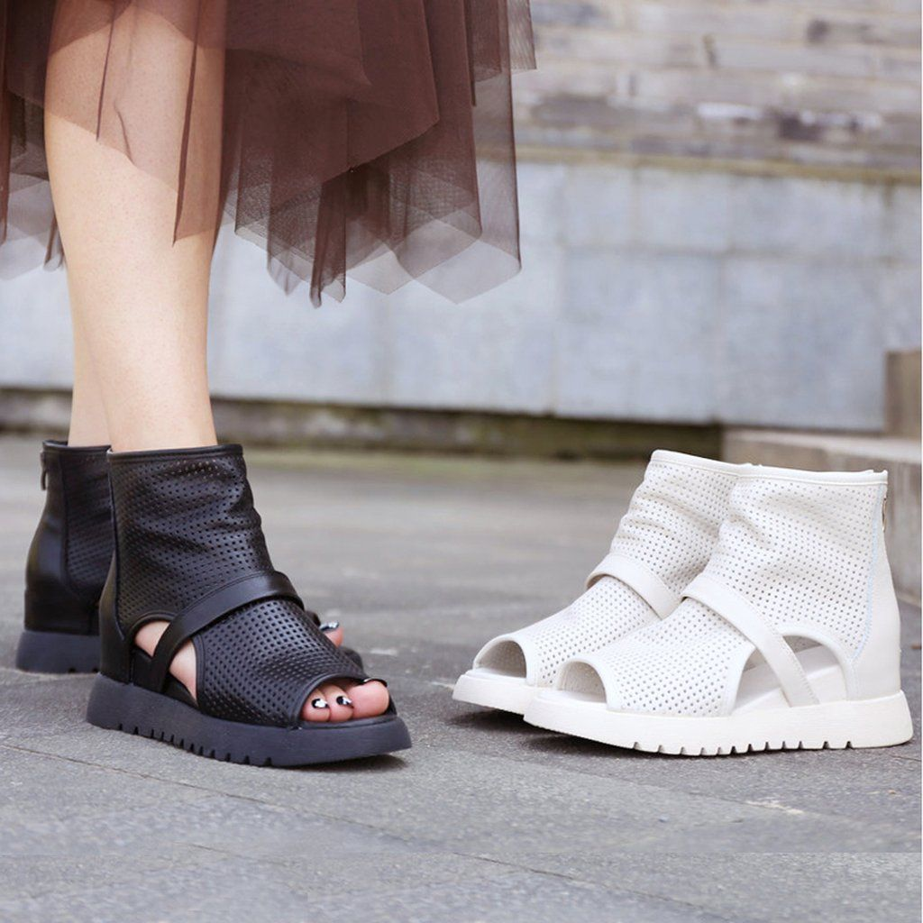 Mesh Sandals Summer Boots Women/'s Mesh Shoes High Wedge Heels Hidden Heels New