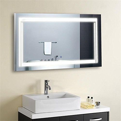 Decoraport 36 Inch 28 Inch Horizontal Led Wall Mounted Lighted Vanity Bathroom Silvered Mirror Large Bathroom Mirror Led Mirror Bathroom Mirror Wall Bathroom