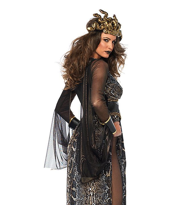 Look at this Leg Avenue Black & Gold Medusa Costume Set on #zulily today!