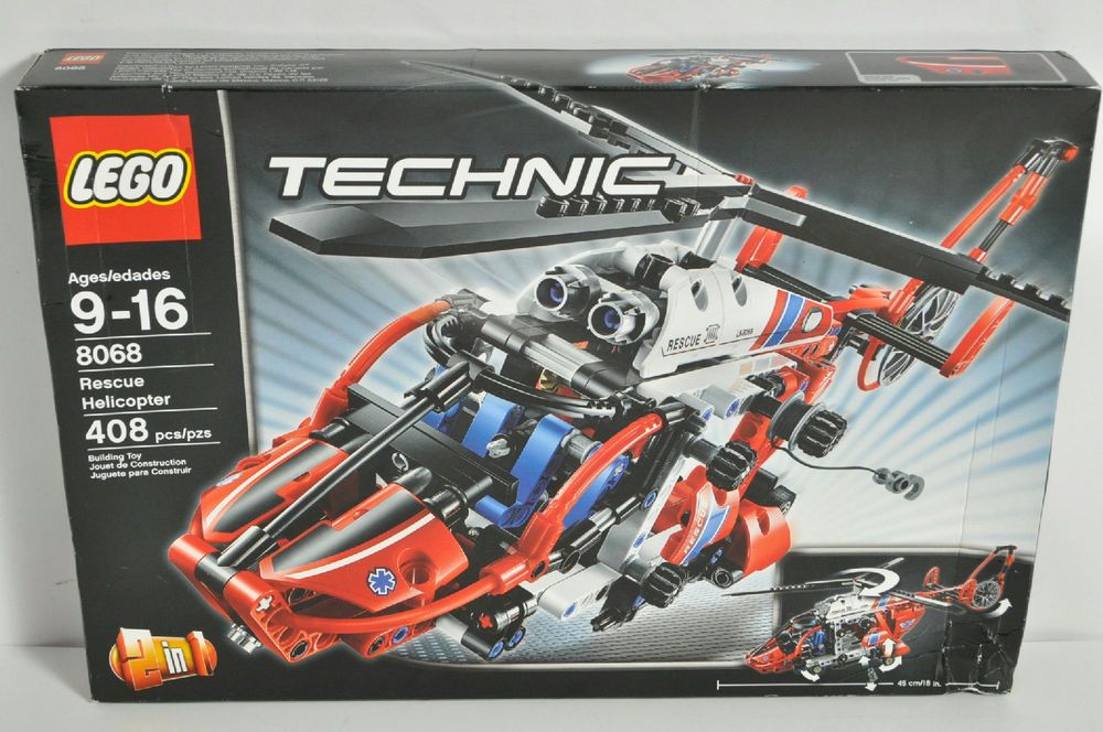 LEGO Technic 408 Piece Rescue Helicopter Kit Number 8068