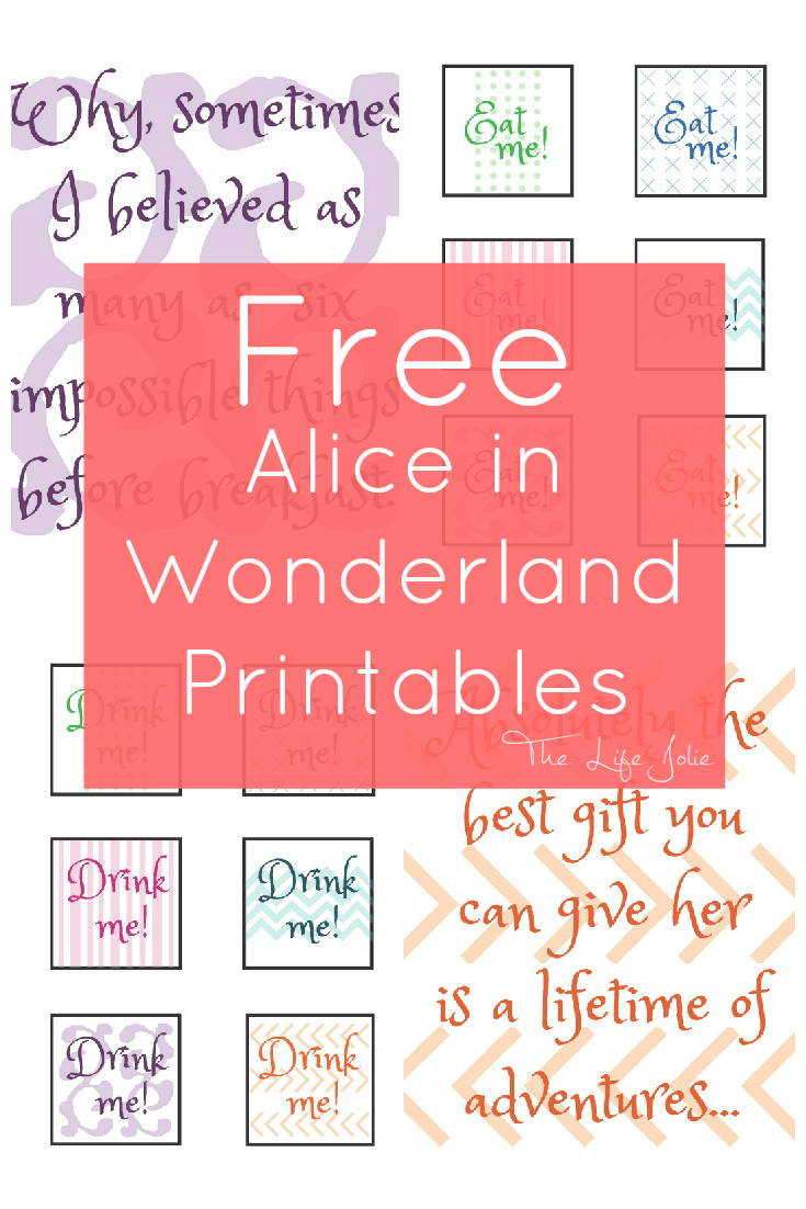 alice in wonderland signs and free printables the life jolie rh pinterest com