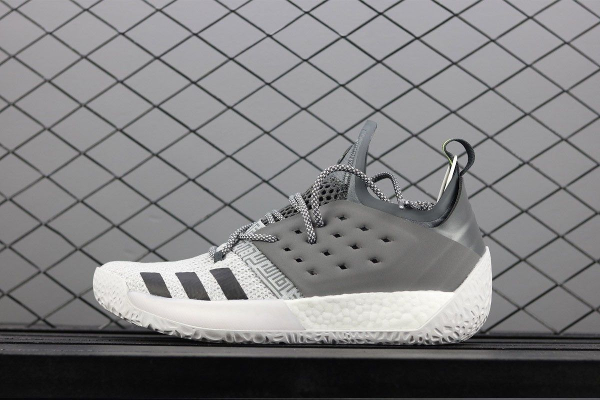 aba369e27e0f0 2018 的 adidas Harden Vol. 2 Concrete Grey Trace Grey Metallic Grey ...