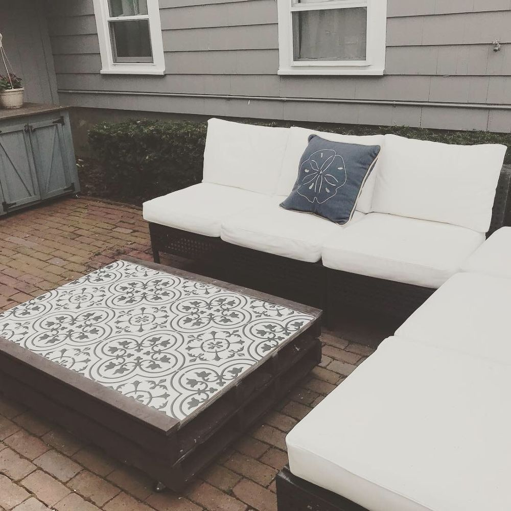 Diy Outdoor Pallet Tile Coffee Table Ogrod