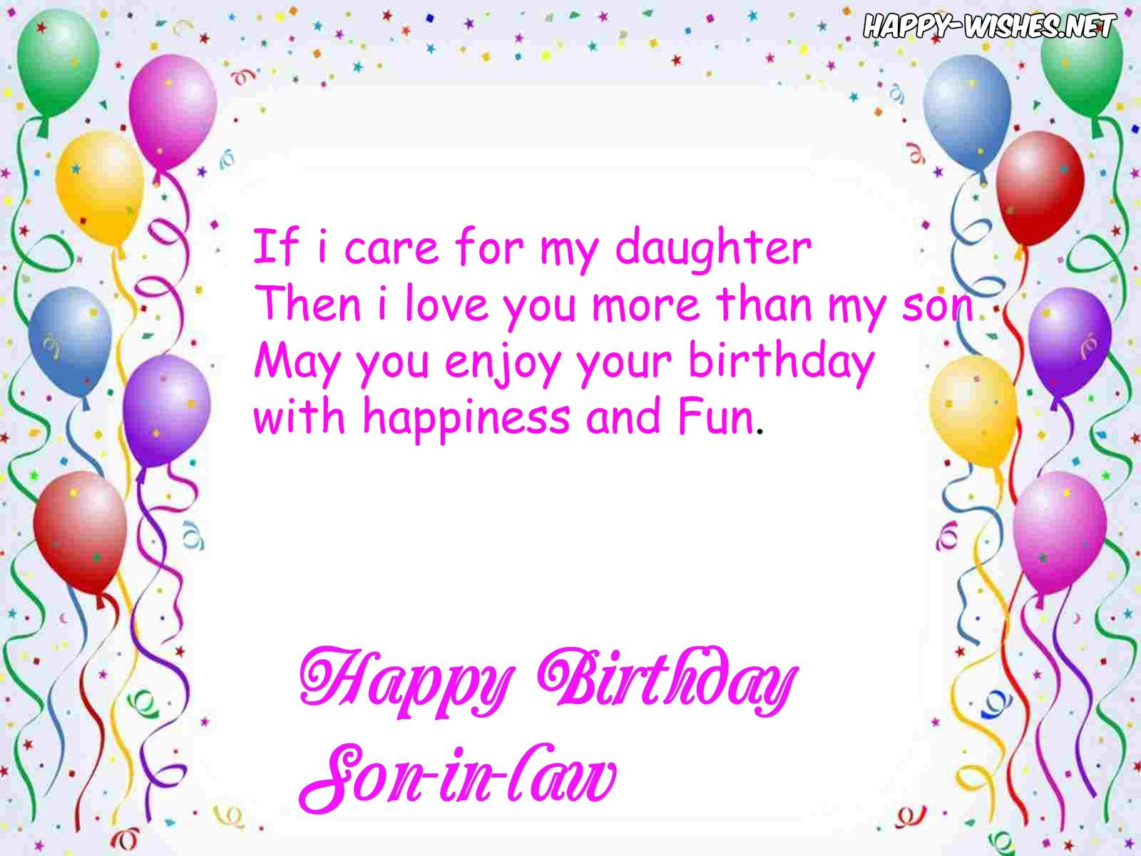 Happy Birthday Wishes For SonInLaw Quotes & Messages