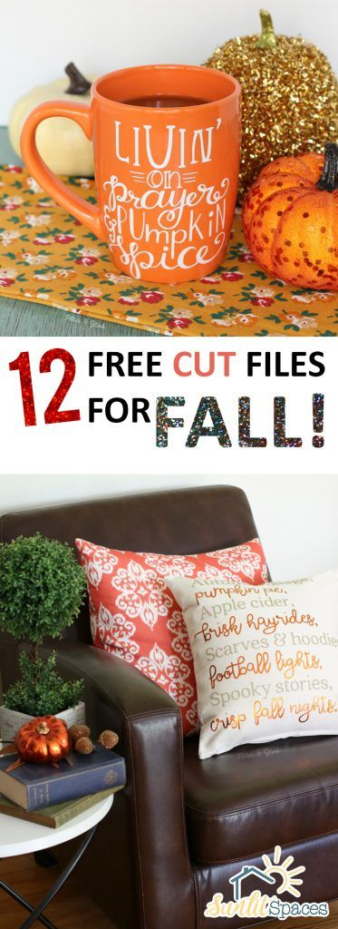 12 Free Cut Files for Fall! - Popular pins, Cricut and Filing
