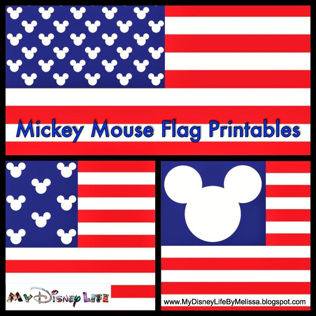 my disney life free mickey flag printable 3 different designs