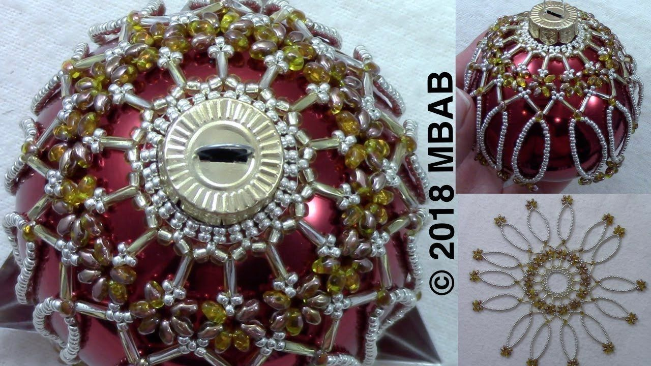 Beaded Ornament Cover Youtube Beaded Ornament Covers Beaded Christmas Ornaments Beaded Christmas Decorations