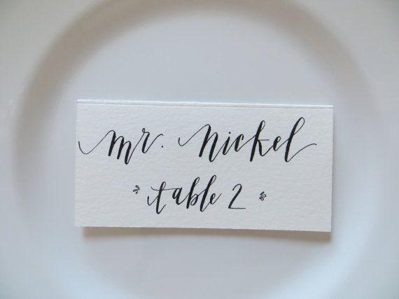 Custom Handwritten Place Cards & Labels