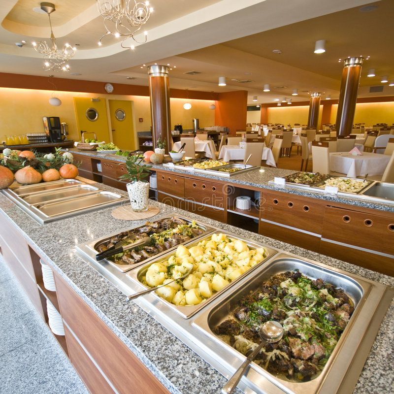 Buffet In Hotel Dining Room A Buffet In A Modern Hotel Dining Room Tasty Foods Affiliate Room Buffet Modern Buffet Hot Dining Buffet Dining Room