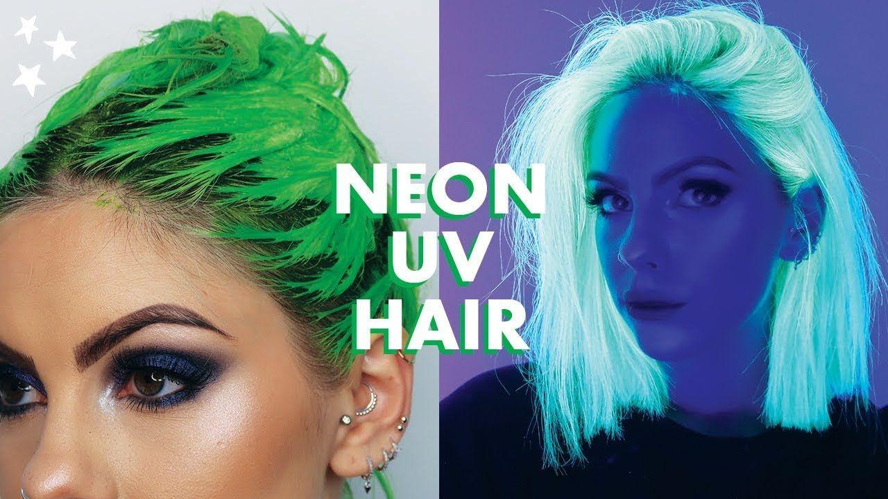 Neon Uv Green Hair Dye Tutorial With Images Green Hair Dye