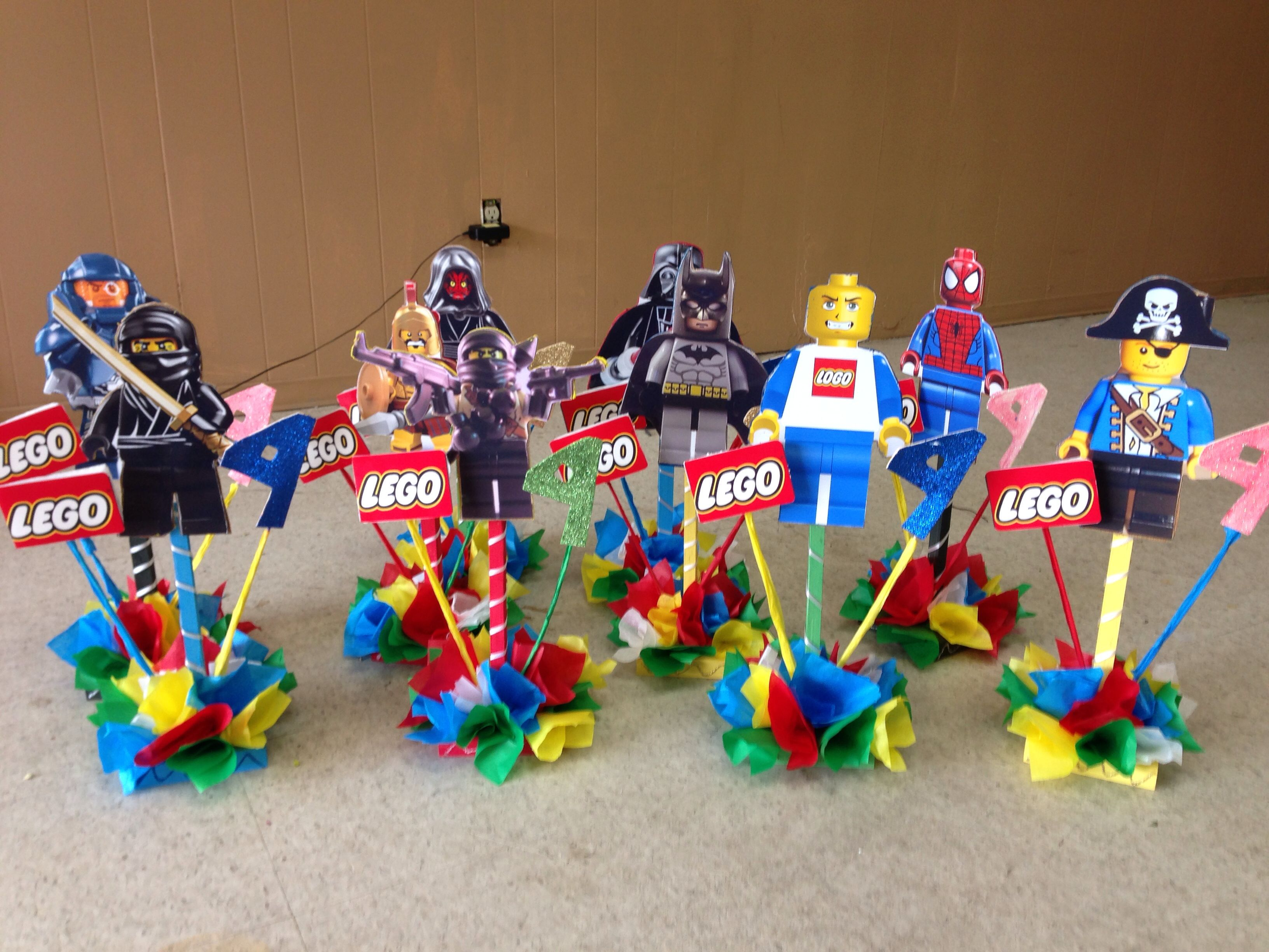Lego centerpiece centerpieces pinterest