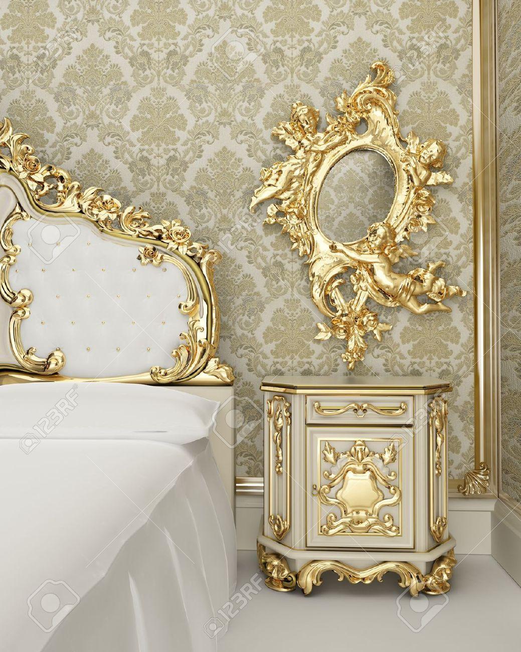 Cream and gold dormitorios muebles muebles de estilo - Dormitorio barroco ...