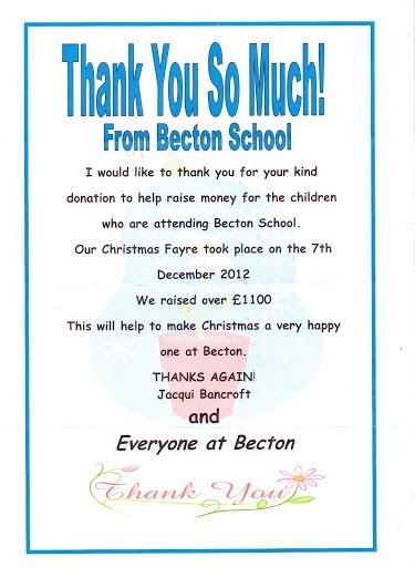 AkbarS Restaurant Donation To Becton School  Thank YouS