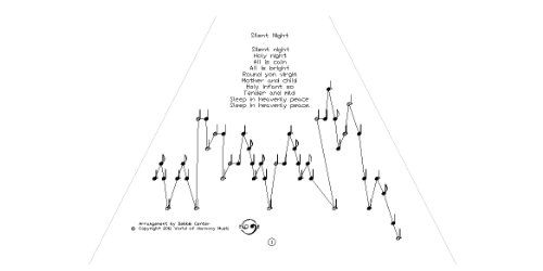 image regarding Free Printable Lap Harp Sheet Music called Peaceful night time\
