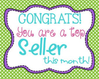 Direct Sales Top Seller of the Month