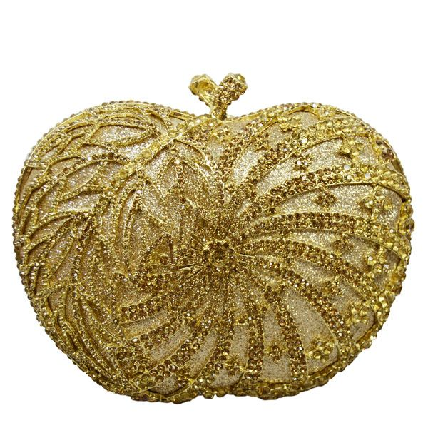 Women Clutch Evening Bag Apple Shape Handmade Diamante Crystal Ladies Party Clutch Purse Soiree Pochette     https://www.lacekingdom.com/