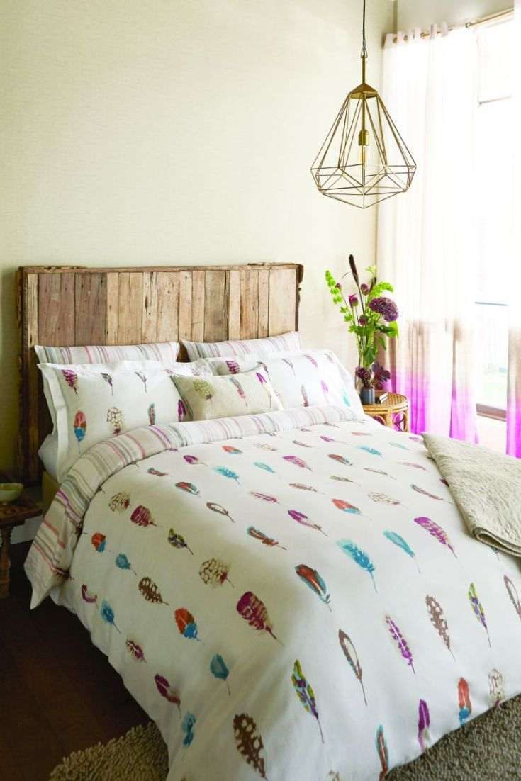 Pretty Feather Bedding.