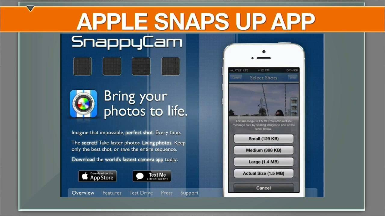 Apple Snaps Up Start-Up Behind Popular Photo App SnappyCam