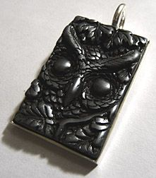Crafty sisters one of us needs to make a bunch of these and sell the enchanted gallery easy to make polymer clay pendants using jewelry blanks and perfect pearls mozeypictures Image collections