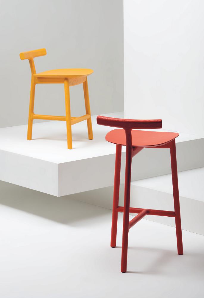 Mattiazzi | Radice - legged wooden stool | design by Industrial Facility