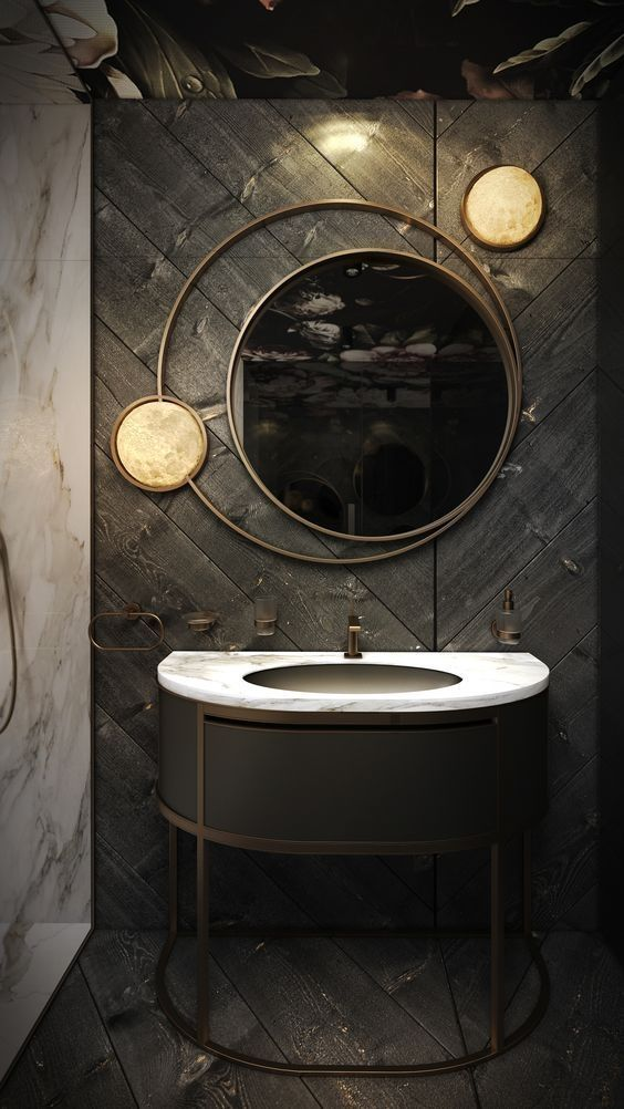 58 Unique Bathroom Mirrors Ideas | Bathroom Mirrors, Oval Bathroom Mirror  And Vanities