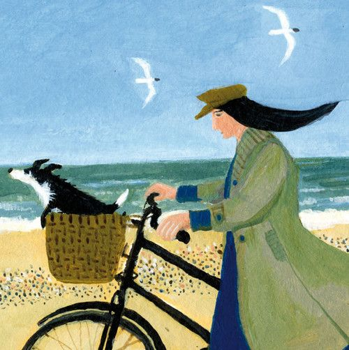 'A Ride To The Sea' by Dee Nickerson. Blank Art Cards By Green Pebble. www.greenpebble.co.uk