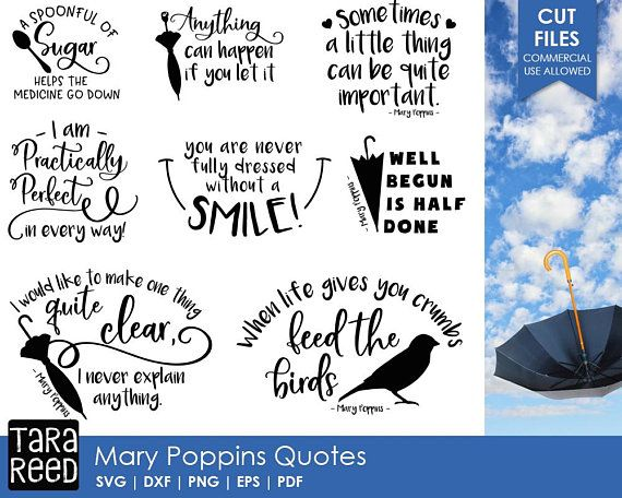 Mary Poppins svg / Mary Poppins quotes / svg files / svg for Cricut