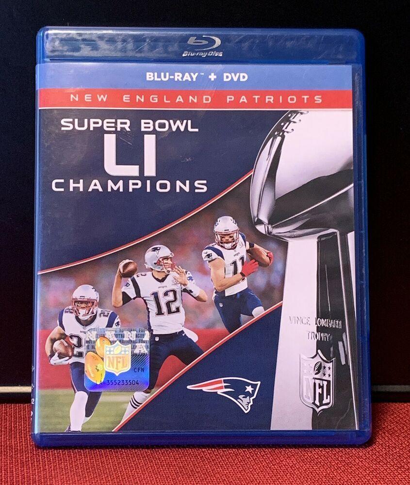 New England Patriots Super Bowl LI Champions BluRay 2 DVD