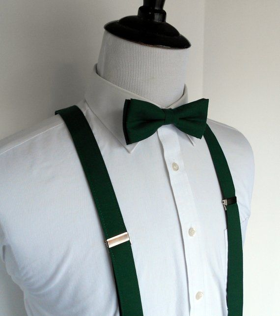 45d52e61f13 Men s Forest Bow Tie and Suspenders in 2019