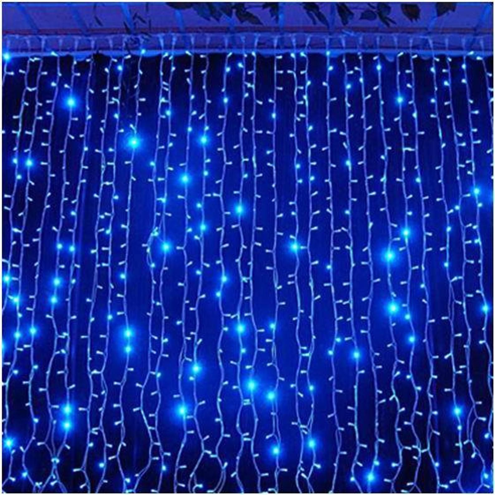 300 Led 9ft X 9ft Curtain Lights Backdrop Window Lights Outdoor