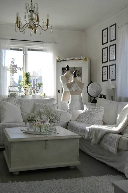 shabby chic shabby chic living room pinterest shabby white rooms and room. Black Bedroom Furniture Sets. Home Design Ideas