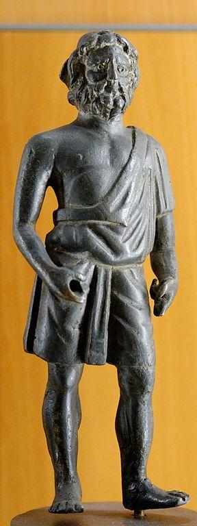 Vulcan (Hephaestus), Roman statuette (bronze), ca 1st century AD, (Musée des beaux-arts, Lyon).