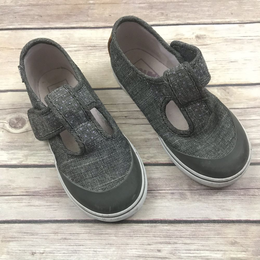 0555ef881e2941 VANS Girls Size 8 Toddler Gray Mary Janes Canvas Shoes  fashion  clothing   shoes  accessories  babytoddlerclothing  babyshoes (ebay link)