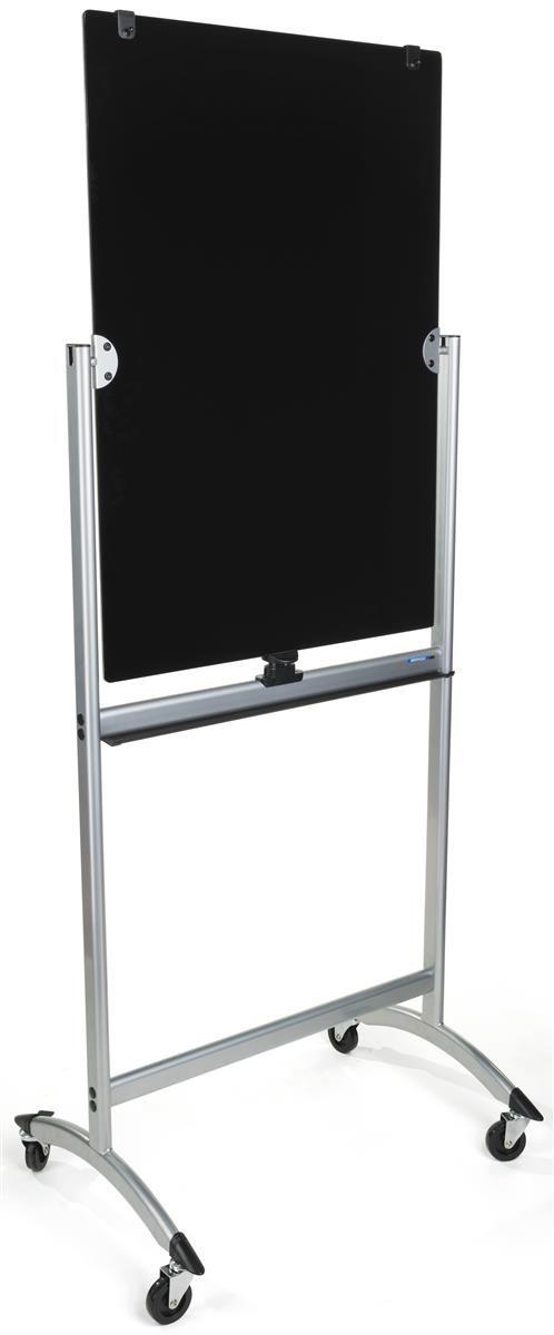 28 X 40 Write On Board W Wheels Double Sided Gray Black Glass Dry Erase Glass Dry Erase Board Dry Erase