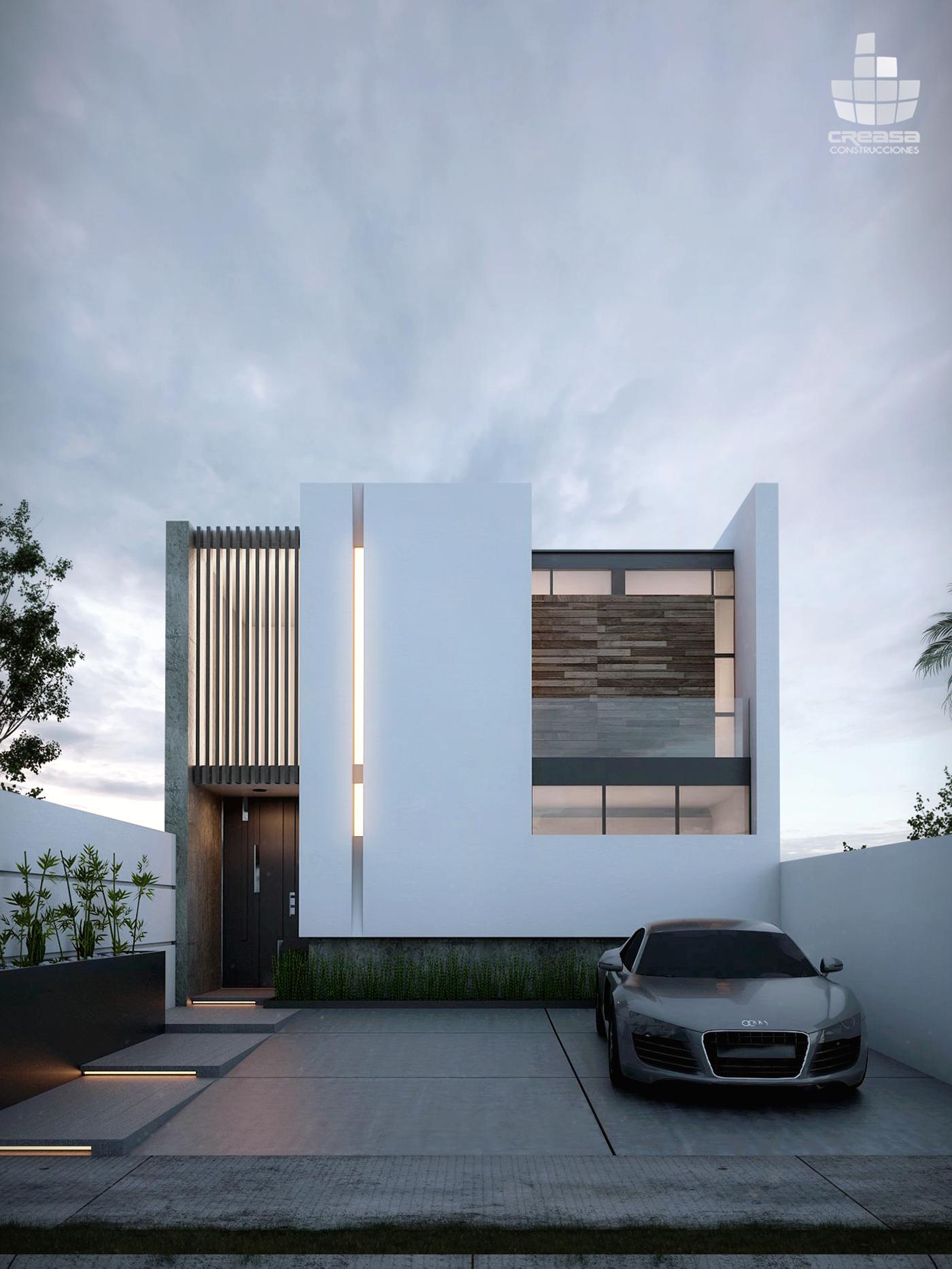 Casas en colima m xico v renderings modern homes in for Planos de casas minimalistas modernas
