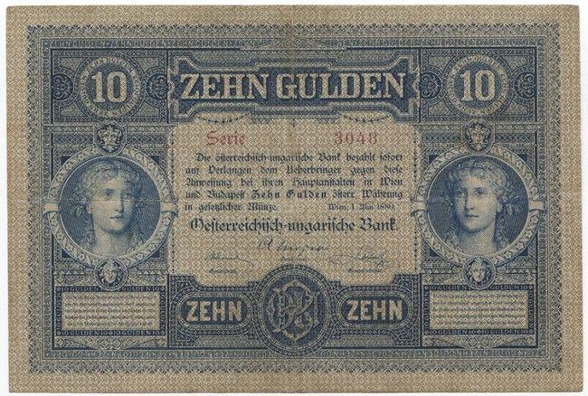 10 Gulden 1880 Frauenportraits Osterreich Geld Geldscheine Osterreich