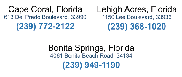 Need to call?  Whether you live in Cape Coral, Lehigh Acres, Bonita Springs, or Naples, patient concerns reach Dr. Croley no matter where he is seeing patients that day!    Our medical, optical, and billing staff is also here to help you every day of the week, even while Dr. Croley is in surgery.