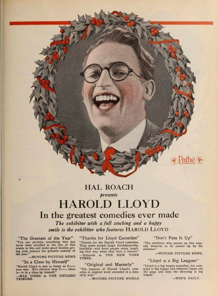 Pathe Christmas Ad Featuring Harold Lloyd