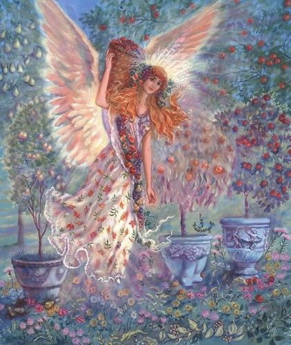 JUDY MASTRANGELO BOOK ILLUSTRATION PAINTING AUTUMN ANGEL