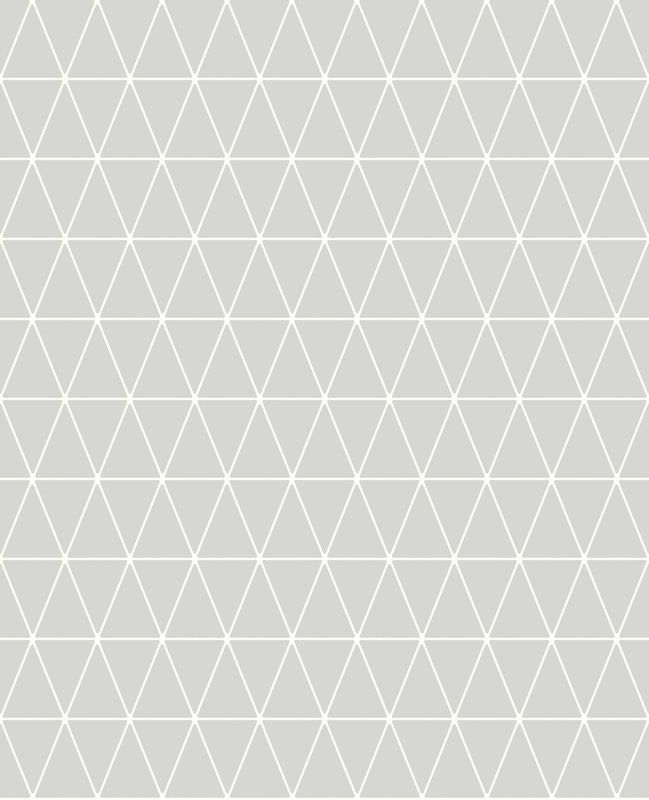 Triangolin Geometric 10m x 52cm Matte Wallpaper Roll in 2019