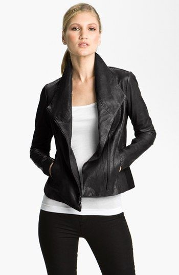 faf4dd41b Vince Leather Scuba Jacket available at #Nordstrom | My Virtual ...