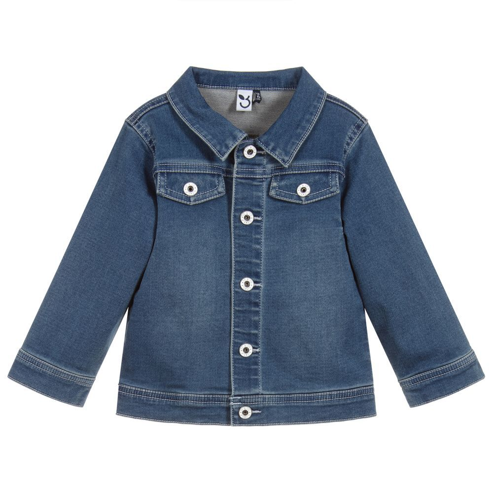 63eb6fded9db A soft and stretchy blue denim jacket for little boys
