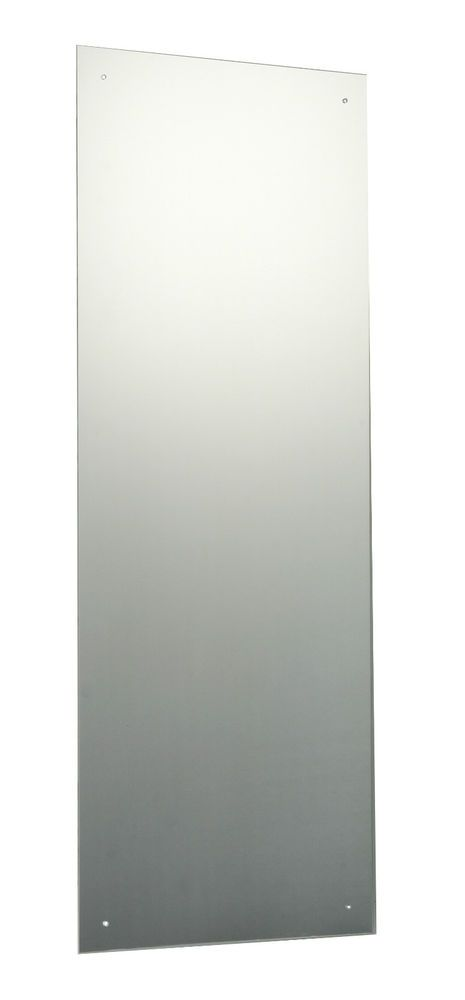 Images On  x cm Frameless Rectangle Bathroom Mirror with Drilled Holes u Wall Fixings