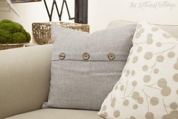 Gray Throw Pillow From Hobby Lobby