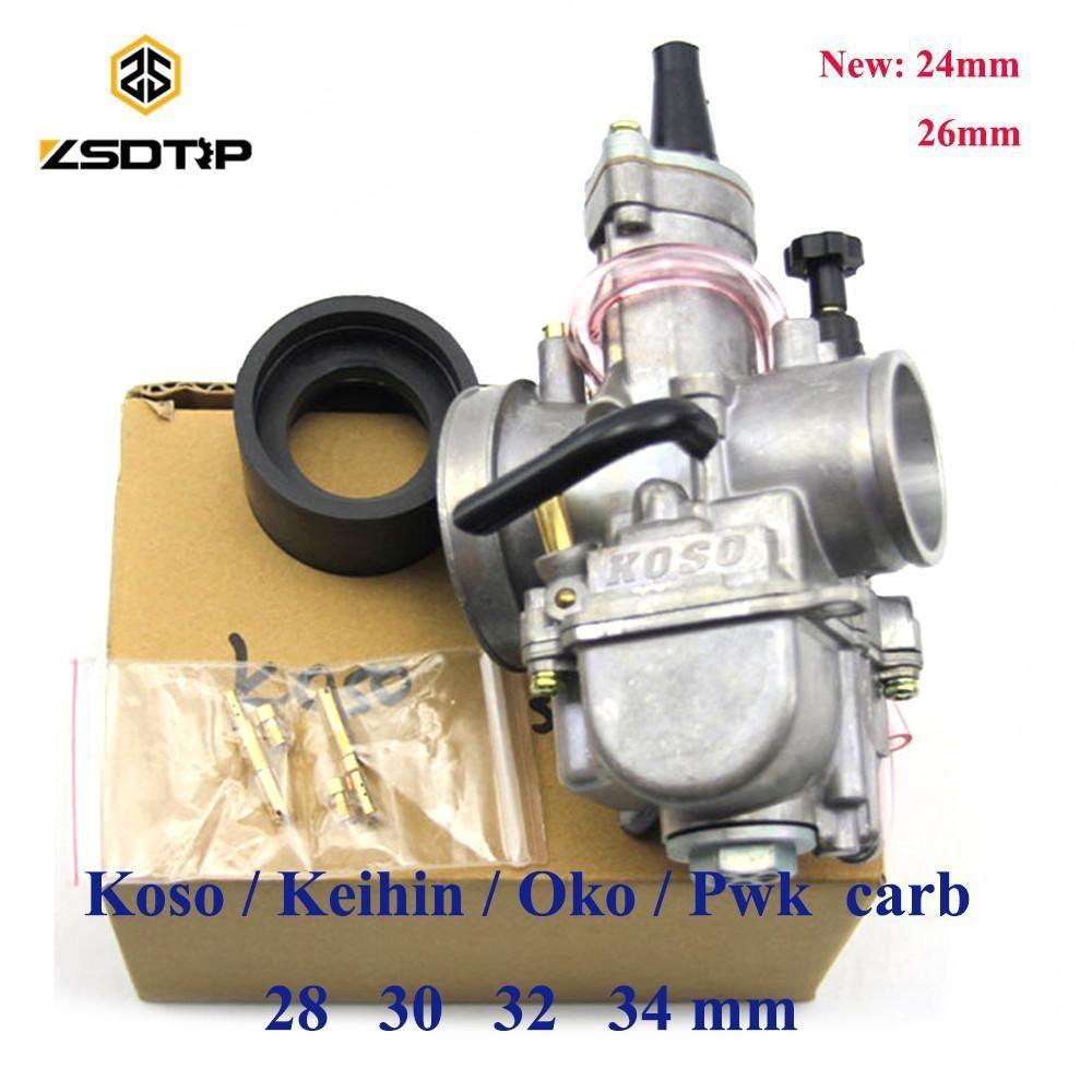 Zsdtrp Motorcycle Keihin Koso Pwk Carburetor Carburador 21 24 26 28 30 32 34 Mm Carburetor Racing Motorcycle