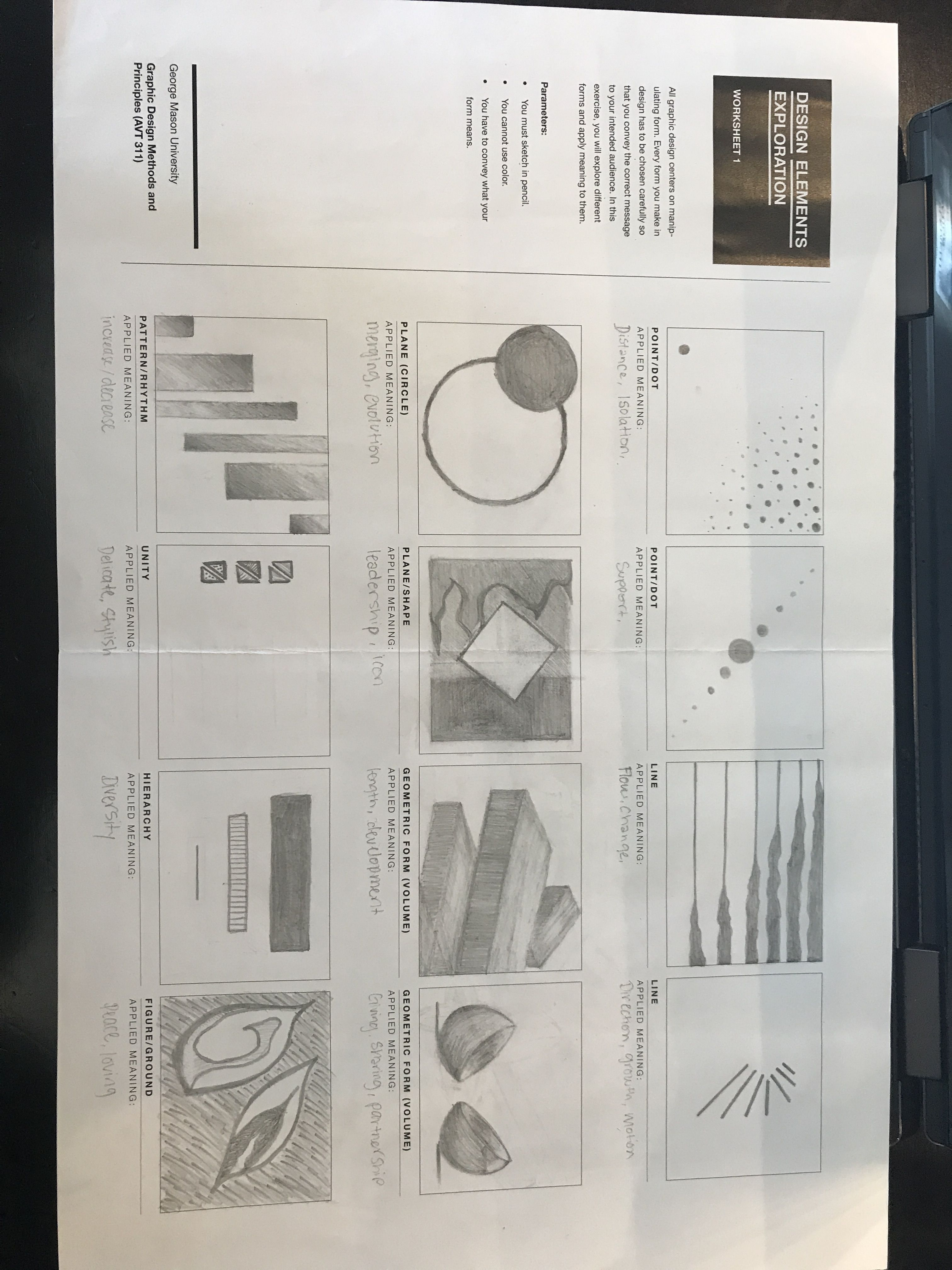 This Worksheet Helped Us Work With The Elements Of Design