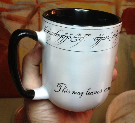 Ring Lord Elvish Inspired Precious Mug You Can Have Your Ring And Drink From It Too Enchanted Ring Mug En 2020 El Señor De Los Anillos Tazas Y Juego De Tronos
