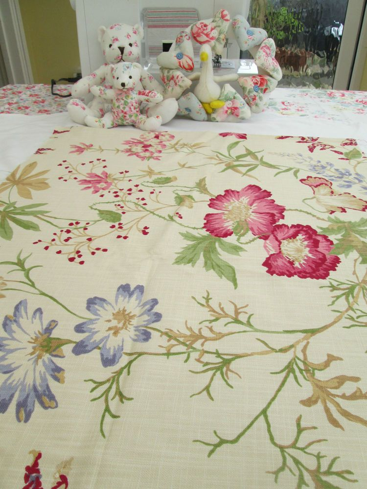 BN Large Gorgeous Linen Laura Ashley Remnant In Neisha
