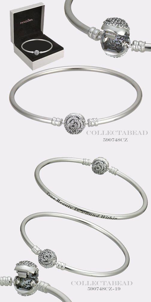 43e1a5cfa Charms and Charm Bracelets 140944: Authentic Pandora Disney Beauty And The Beast  Silver Bangle Bracelet 7.5 590748Cz -> BUY IT NOW ONLY: $89 on eBay!