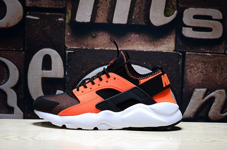 6b81be4be9d8 Nike Air Huarache Run Ultra PK4 Mens Shoes Black Orange